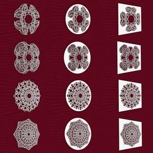 mandala frames vol 01 3D model