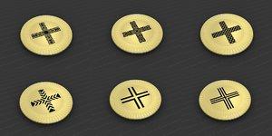 3D model medallions vol 35