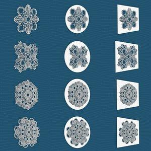 3D model mandala frames vol 07