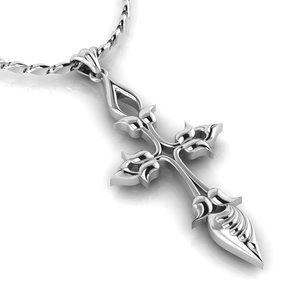 beautiful ornamental cross 3D