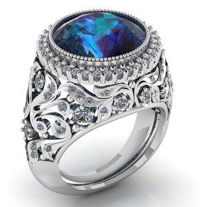 3D female engagement ring