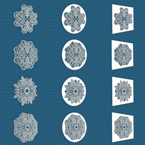 3D model mandala frames vol 23