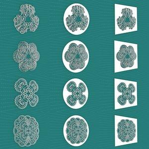 3D mandala frames vol 24