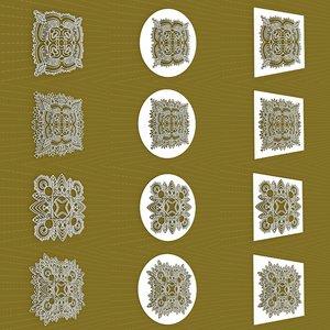 3D mandala frames vol 13