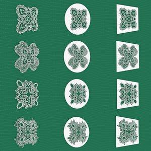 mandala frames vol 09 3D model