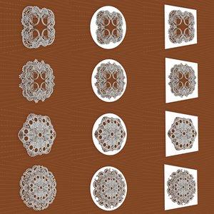 mandala frames vol 14 3D model