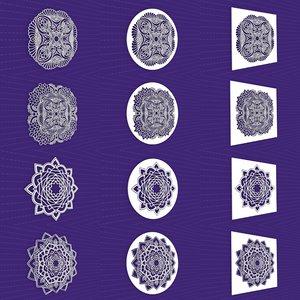 3D mandala frames vol 21 model
