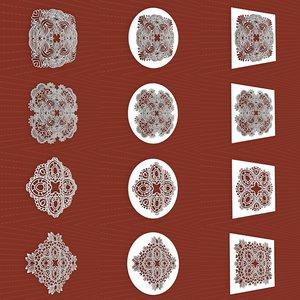 3D mandala frames vol 15 model