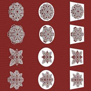 3D model mandala frames vol 16