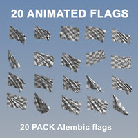 Animated Flags - 20 Pack