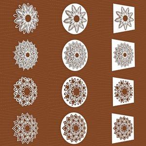 mandala frames vol 30 3D model