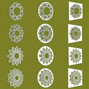 3D mandala frames vol 28 model