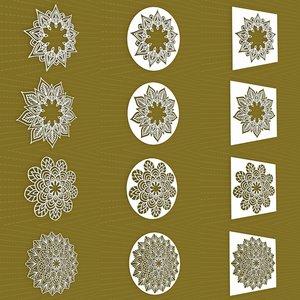 3D mandala frames vol 29