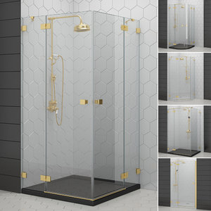3D cabin showers radaway   model