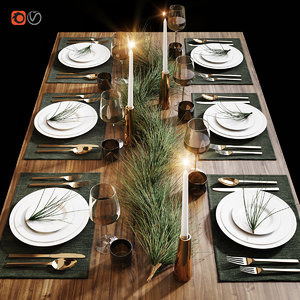 3D table setting 20 model