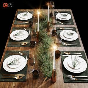 3D table setting 20 model