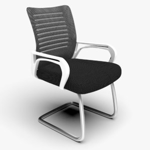 breathable foam cushion office chair 3D model