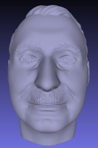 ludwig von mises bust 3D model