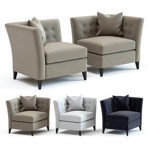 sofa chair bennett armchair 3D model