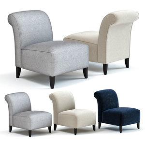 sofa chair bligny armchair 3D