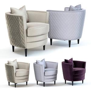 sofa chair dublin armchair 3D model
