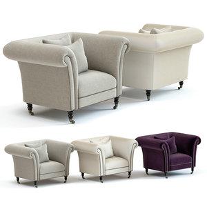 3D sofa chair hepworth armchair