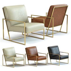 sofa chair kente armchair 3D model