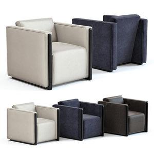 sofa chair marcel armchair 3D model
