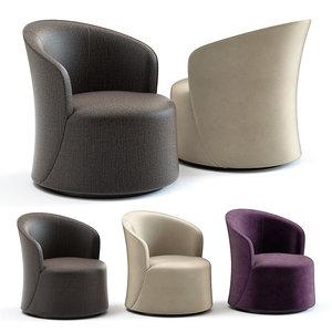 3D model sofa chair oliver armchair