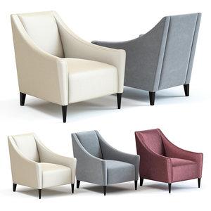 3D sofa chair rivera armchair model