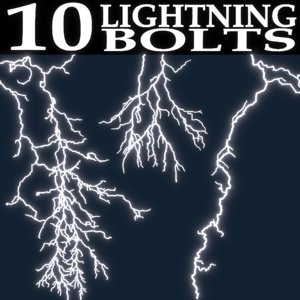 3D lightning bolts