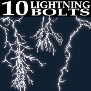 3D lightning bolts