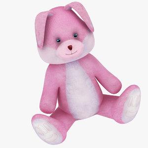 3D model plush rabbit