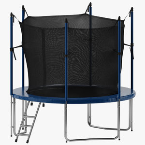 3D model trampoline line ne