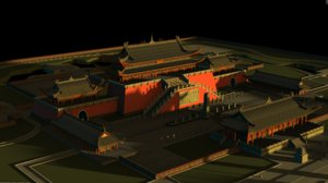 ancient building architectural palace 3D model