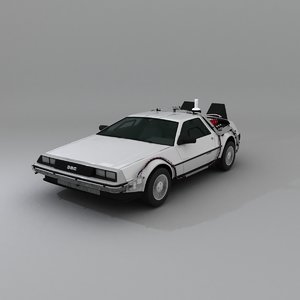 3D delorean dmc 12