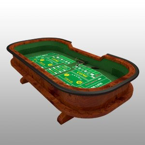 table craps 3D model