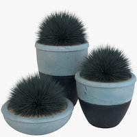 3D deco pot plants model
