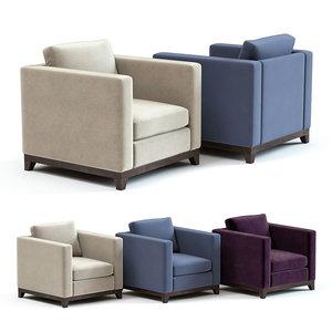sofa chair balthus armchair 3D model