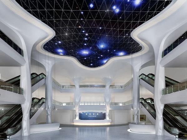 3D hotel lobby