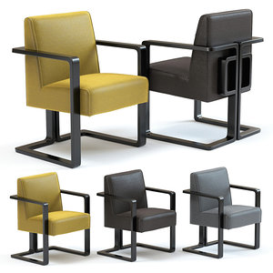 sofa chair ludo armchair 3D model