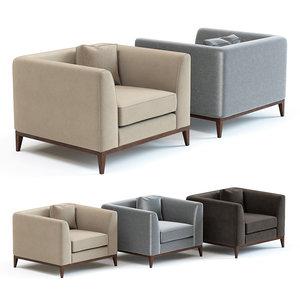 sofa chair pollock armchair 3D