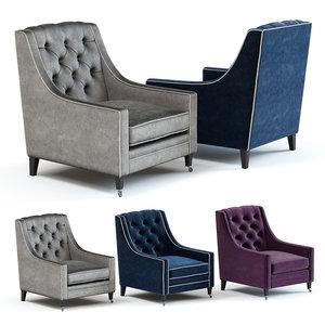 3D model sofa chair renoir armchair
