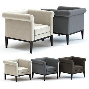 3D sofa chair rubens armchair
