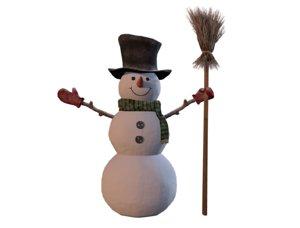 3D model snowman christmas