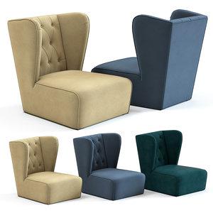 sofa chair sunrise armchair 3D