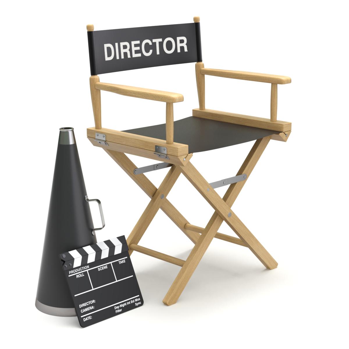 Director Chair Turbosquid 1490600