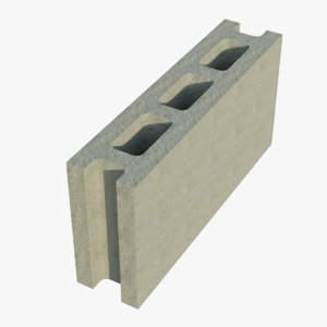 16x4x8 cinder block stretcher 3D