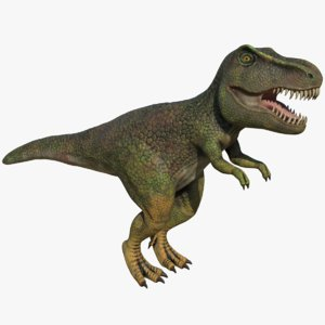 3D model tyrannosaurus rex t-rex dinosaur