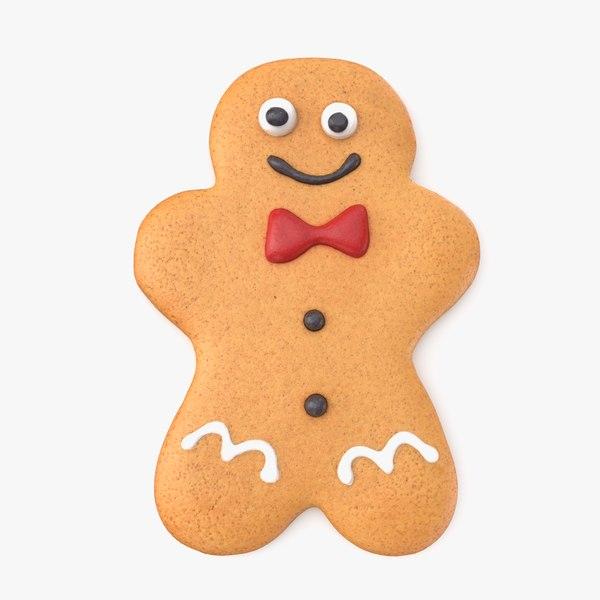 3D model gingerbread man